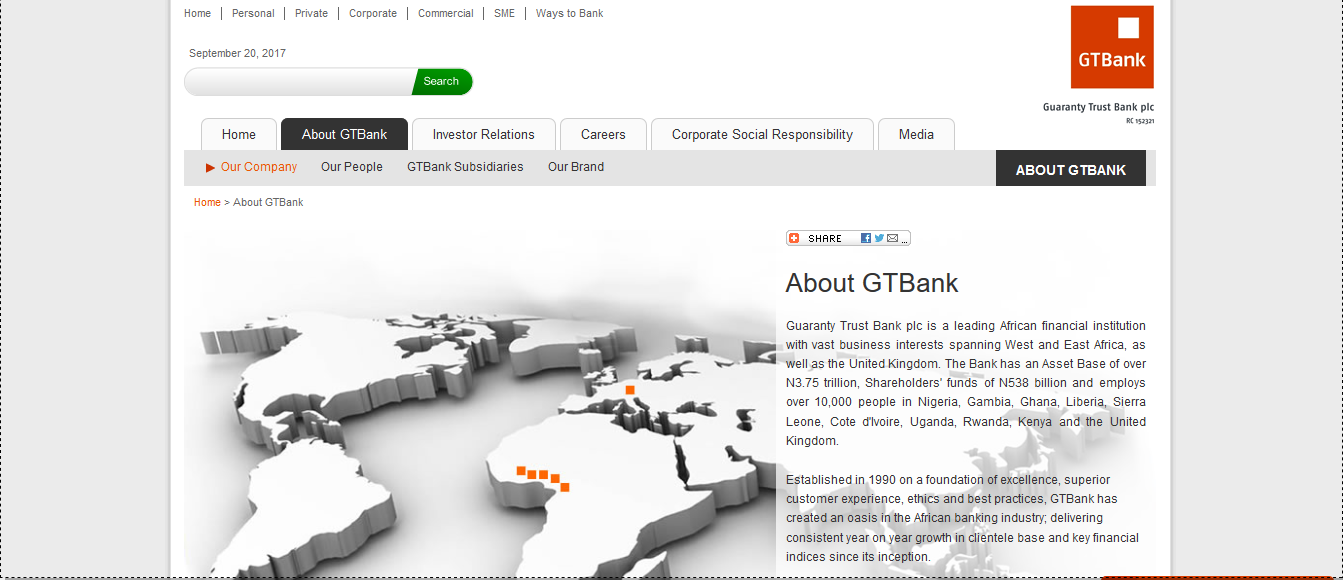 About GTBank Guaranty Trust Bank Plc