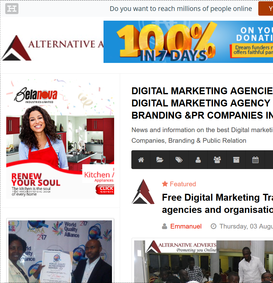 Digital marketing agencies in Nigeria leading Digital marketing agency Online advertising Branding PR companies in Lagos