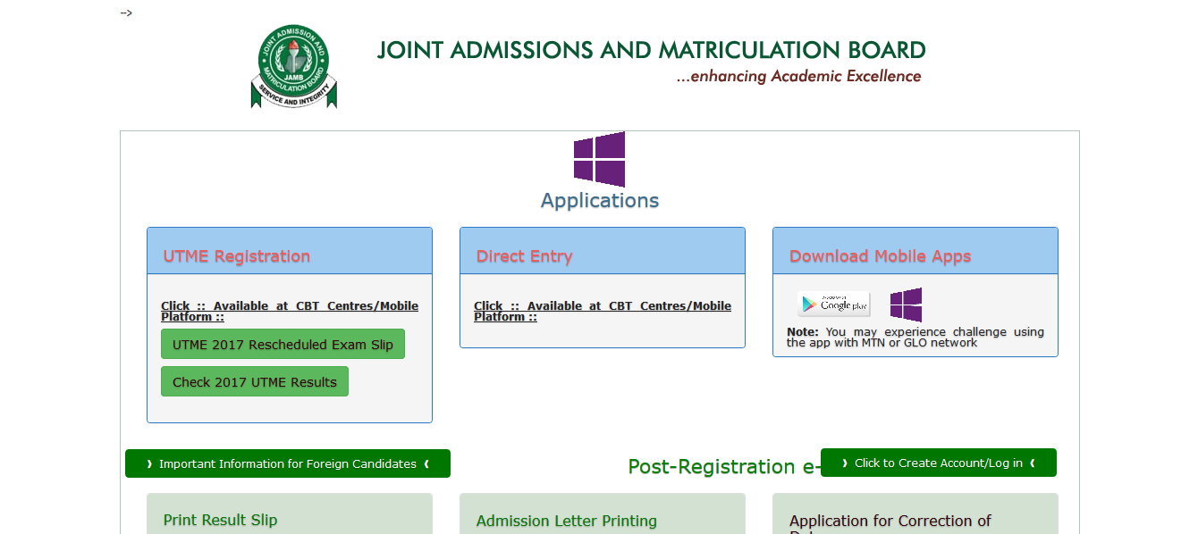 Joint Admissions and Matriculation Board